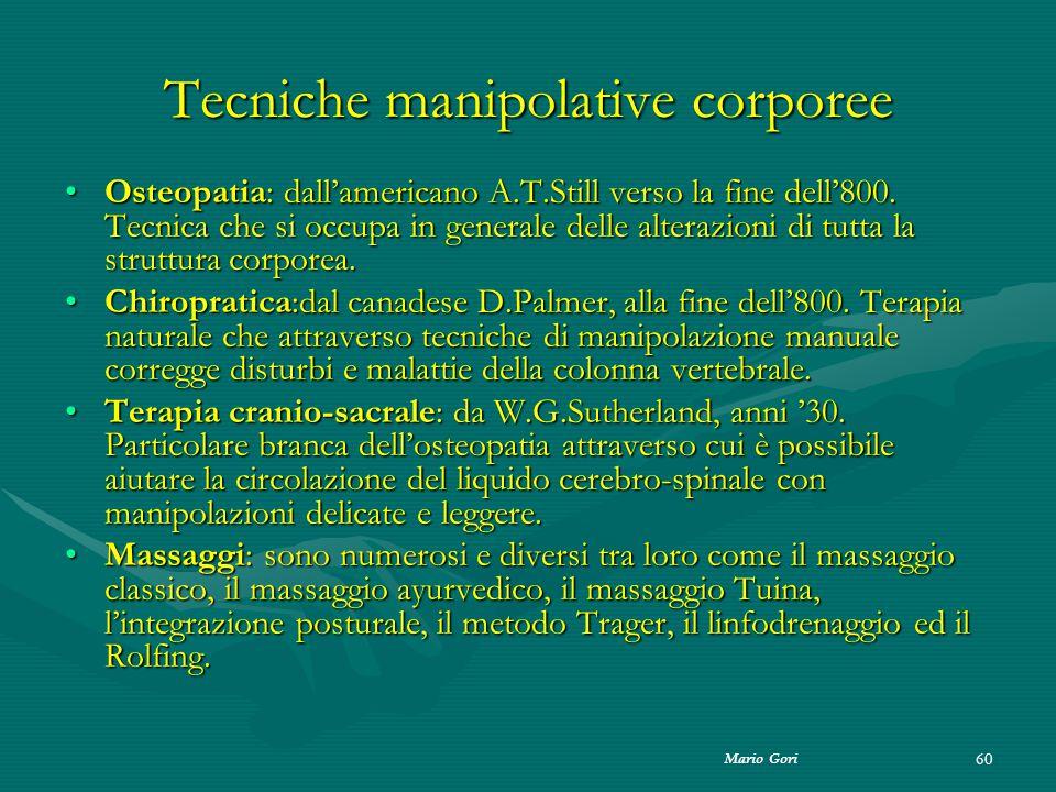 Tecniche manipolative corporee