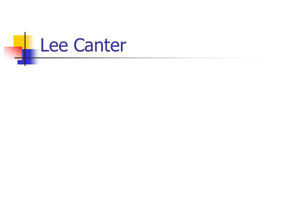 Lee Canter