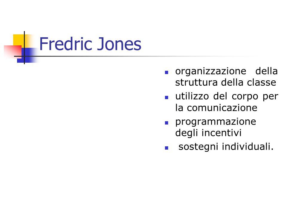 Fredric Jones organizzazione della struttura della classe