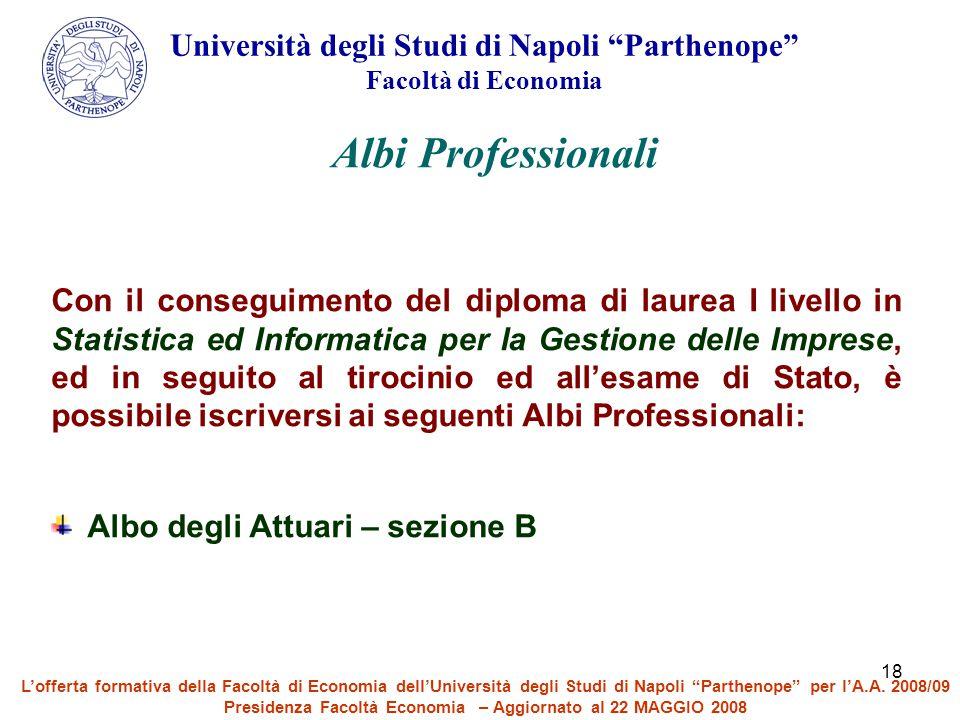 Albi Professionali Università degli Studi di Napoli Parthenope