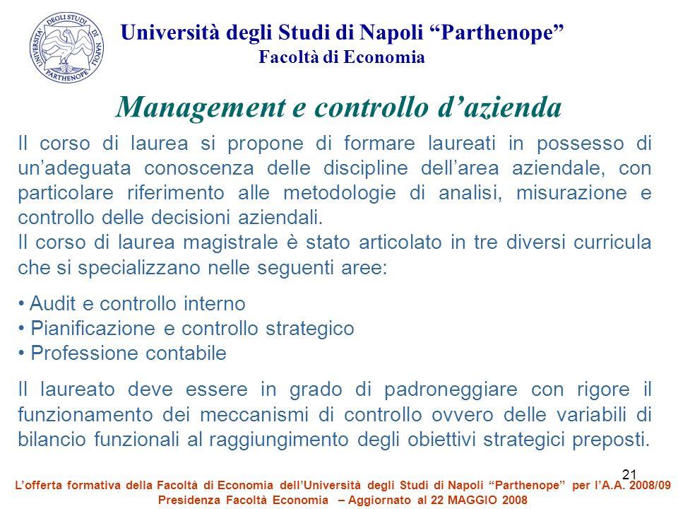 Management e controllo d'azienda