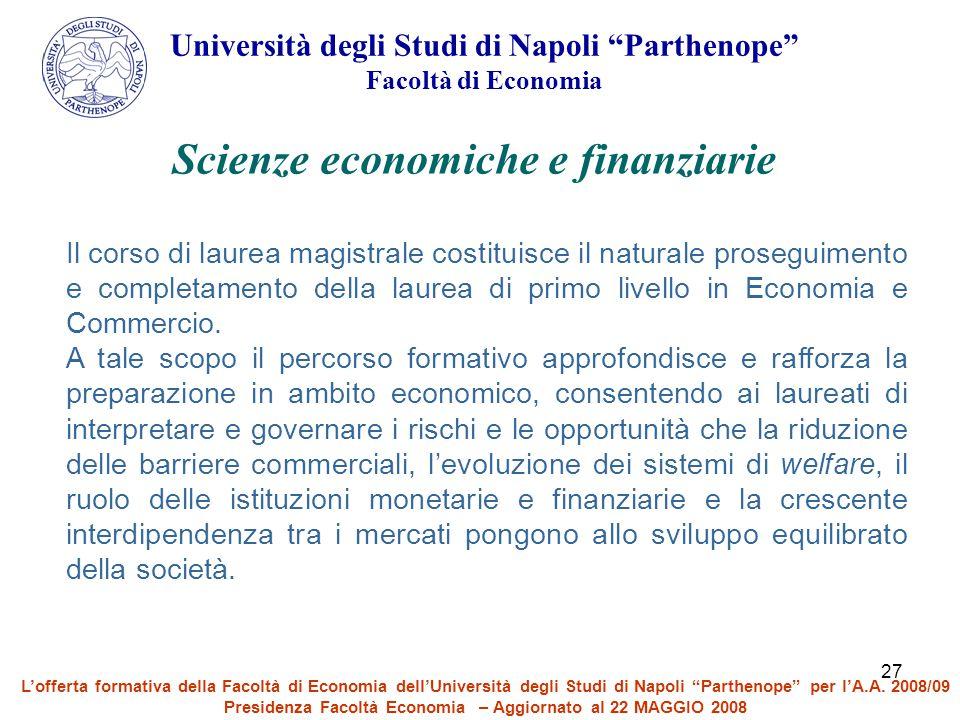 Scienze economiche e finanziarie
