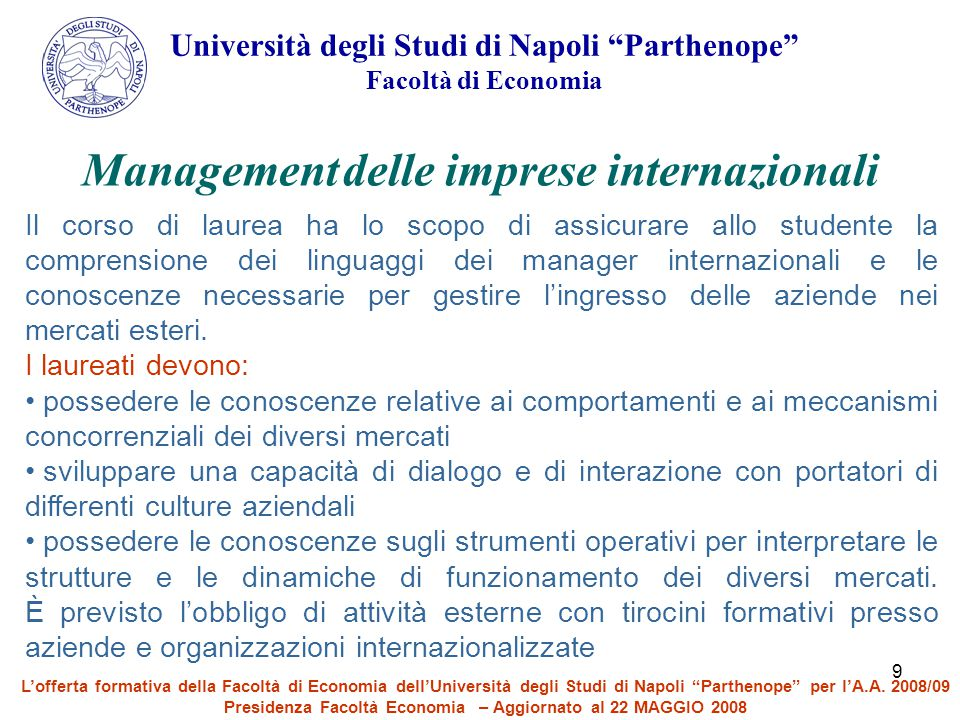 Management delle imprese internazionali