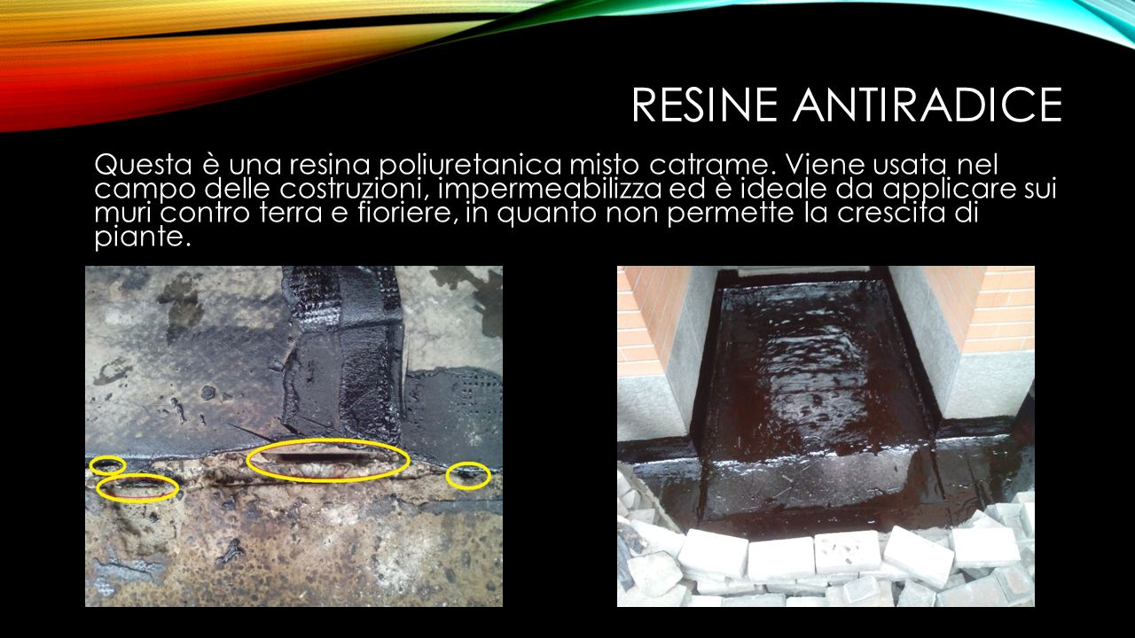 Resine antiradice