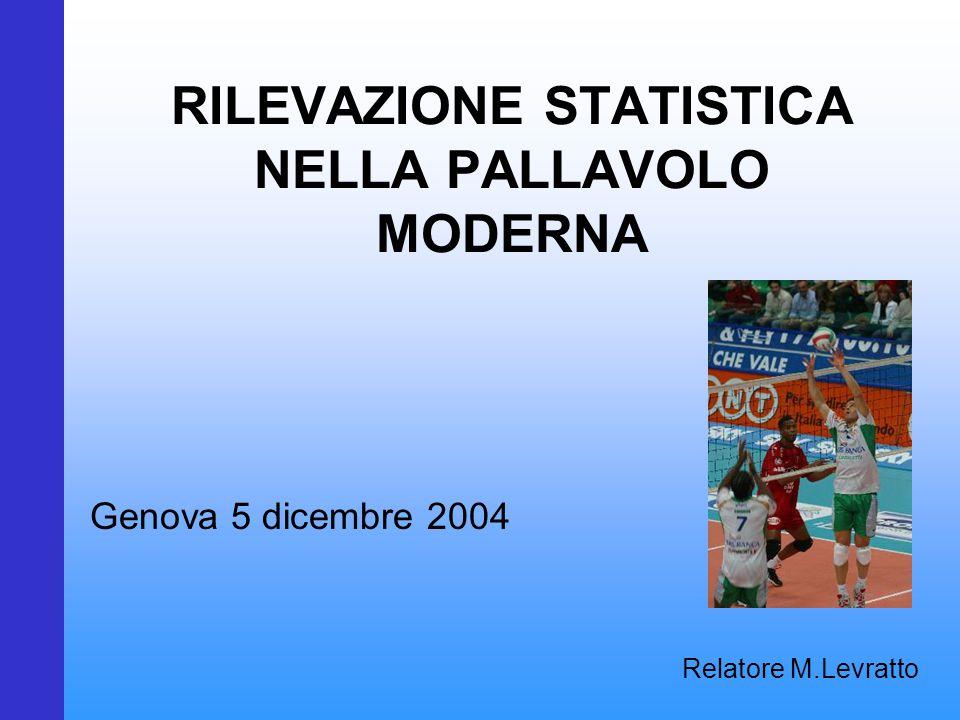 RILEVAZIONE STATISTICA NELLA PALLAVOLO MODERNA