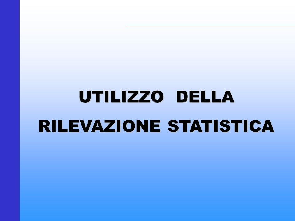 RILEVAZIONE STATISTICA