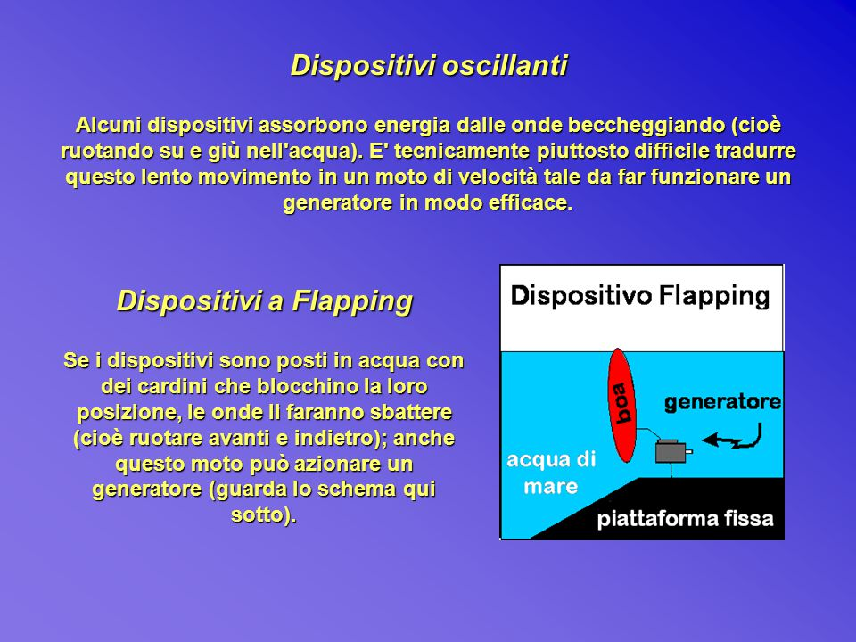 Dispositivi oscillanti Dispositivi a Flapping