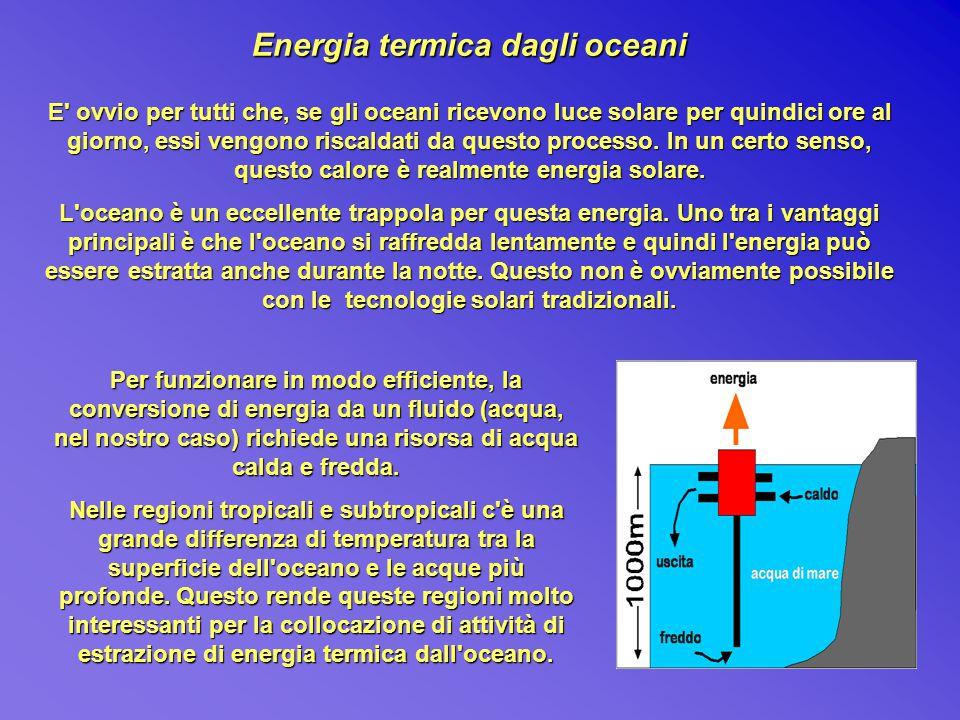 Energia termica dagli oceani