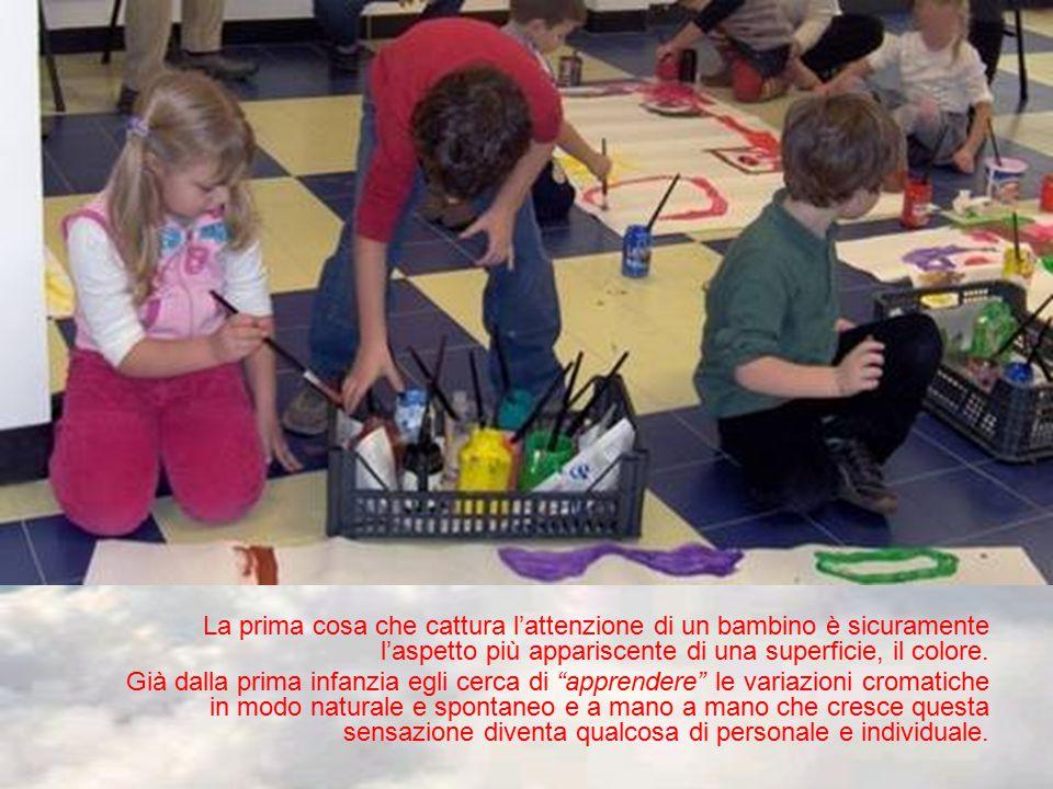 La prima cosa che cattura l'attenzione di un bambino è sicuramente l'aspetto più appariscente di una superficie, il colore.