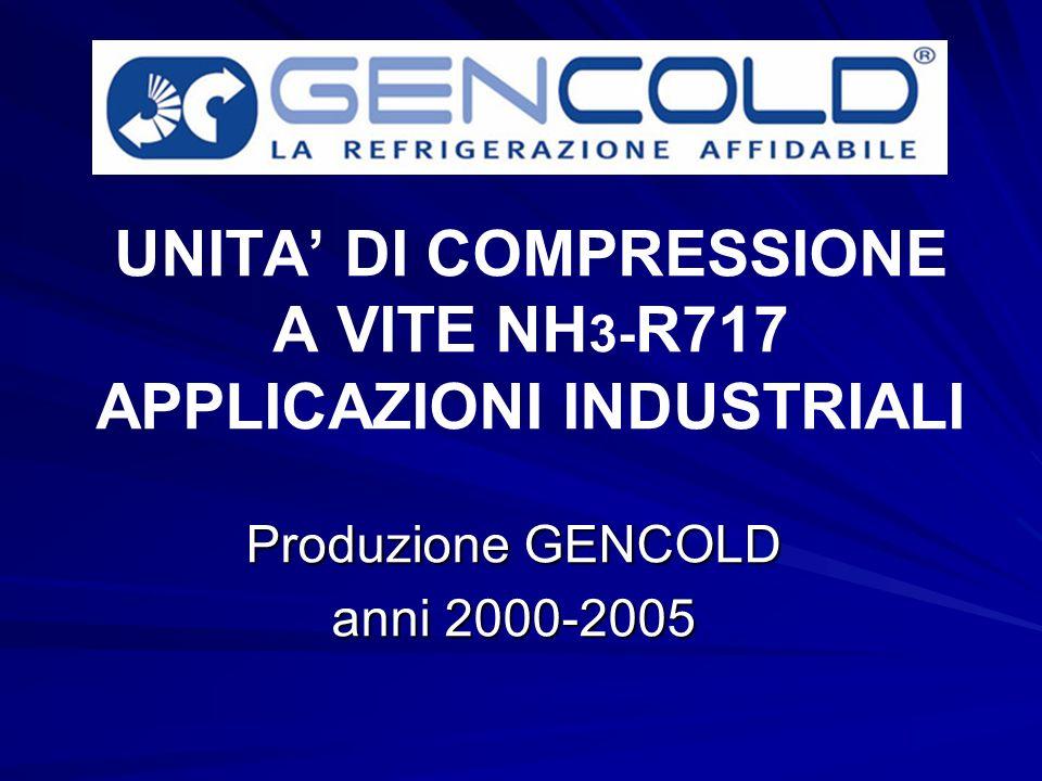 UNITA' DI COMPRESSIONE A VITE NH3-R717 APPLICAZIONI INDUSTRIALI