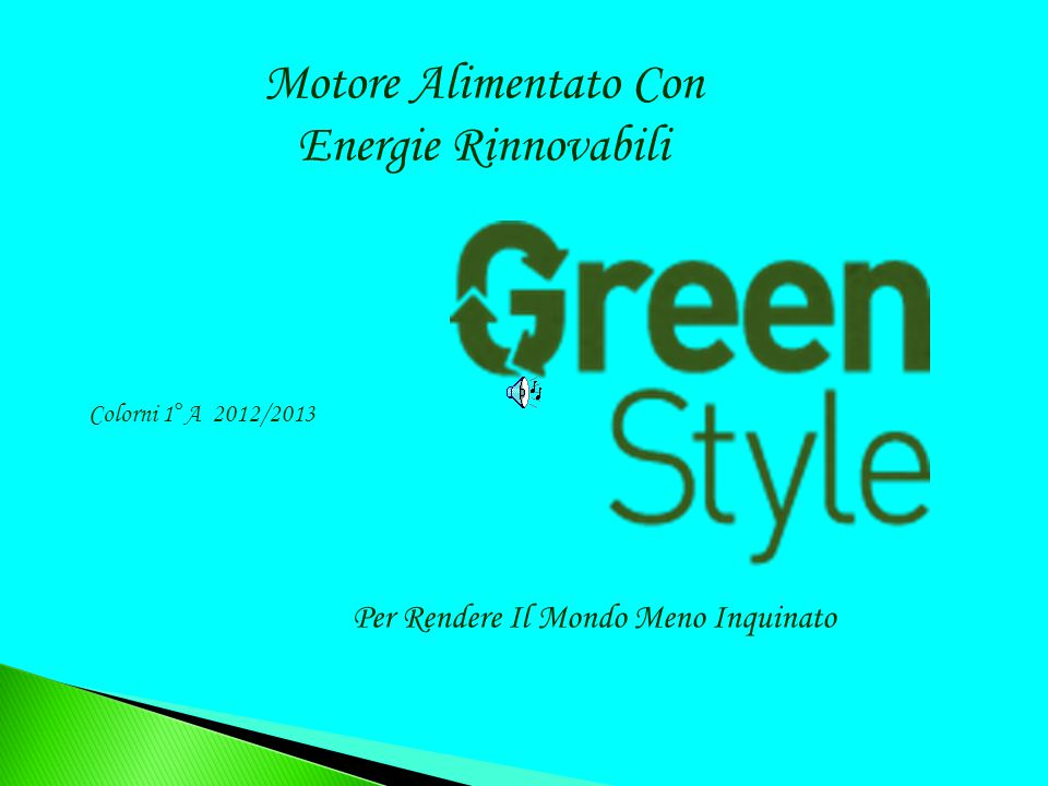 Motore Alimentato Con Energie Rinnovabili