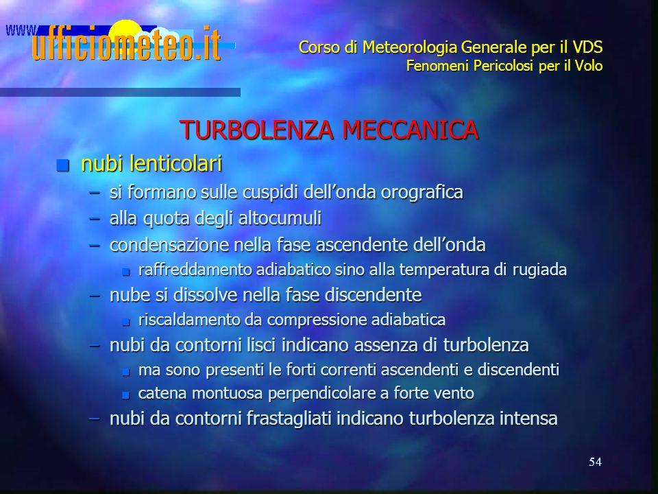 TURBOLENZA MECCANICA nubi lenticolari