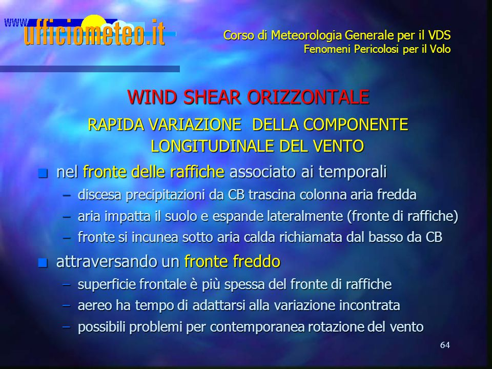 WIND SHEAR ORIZZONTALE