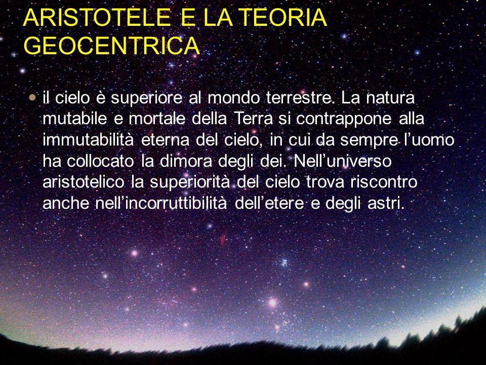 ARISTOTELE E LA TEORIA GEOCENTRICA