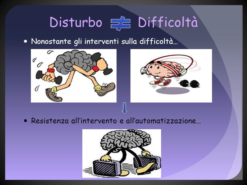Disturbo Difficoltà Nonostante gli interventi sulla difficoltà…
