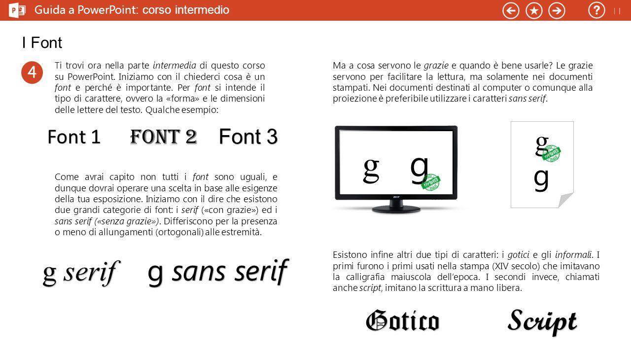 g g g g serif g sans serif Gotico Script Font 1 Font 2 Font 3 I Font 4