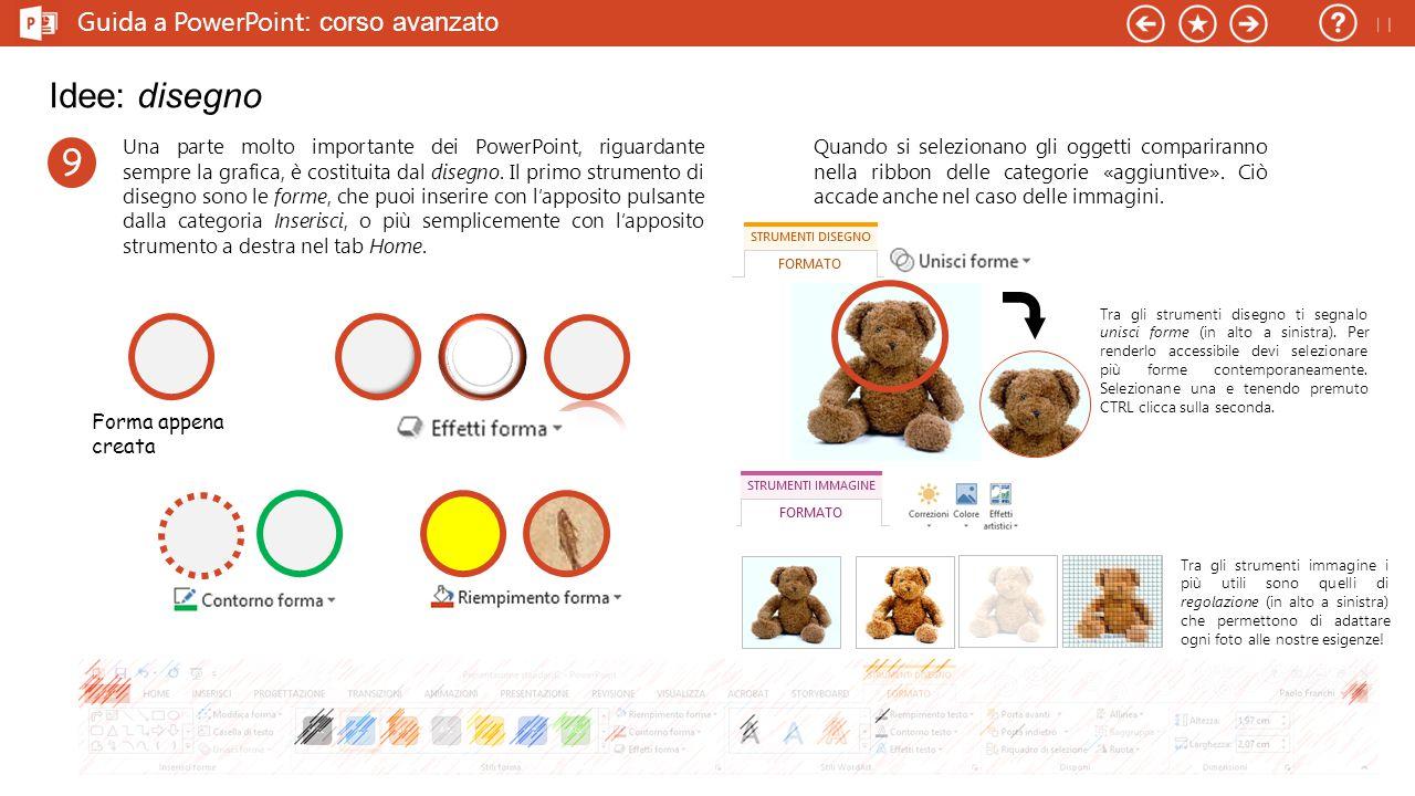 Idee: disegno 9 Guida a PowerPoint: corso avanzato 