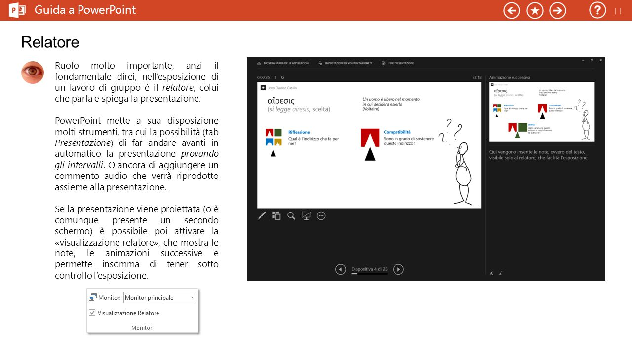 Relatore Guida a PowerPoint 