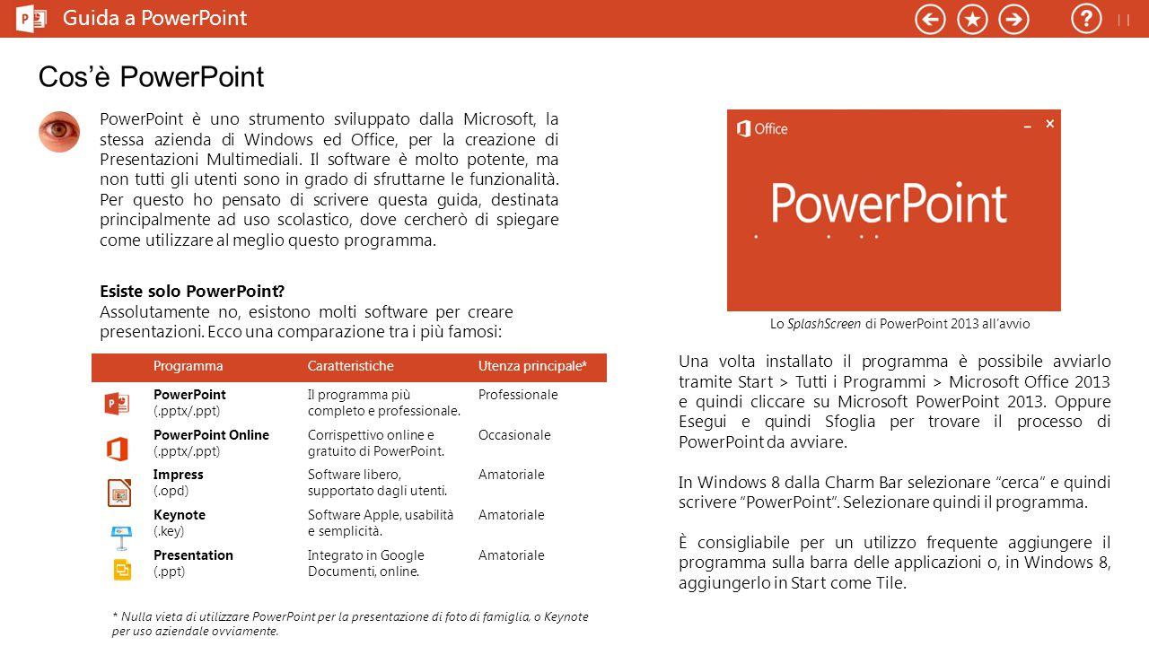 Lo SplashScreen di PowerPoint 2013 all'avvio
