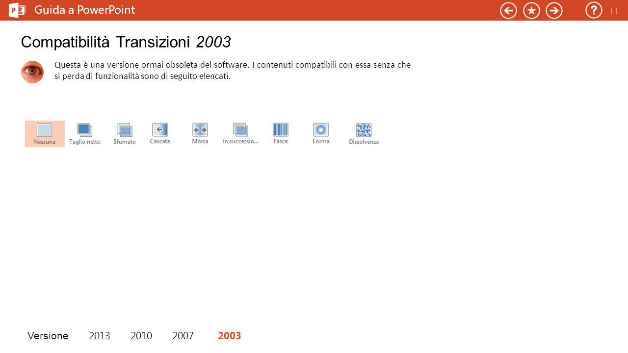 Compatibilità Transizioni 2003