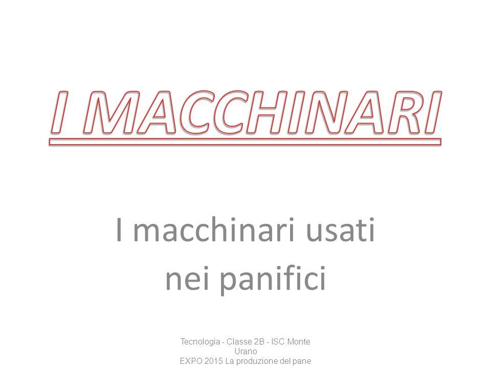 I macchinari usati nei panifici