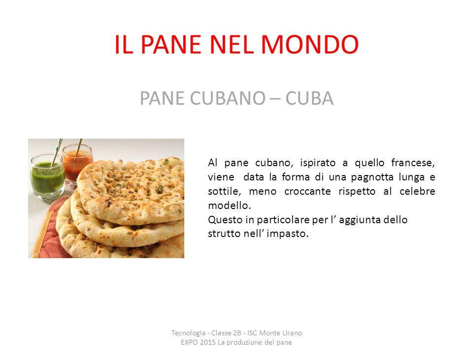 IL PANE NEL MONDO PANE CUBANO – CUBA