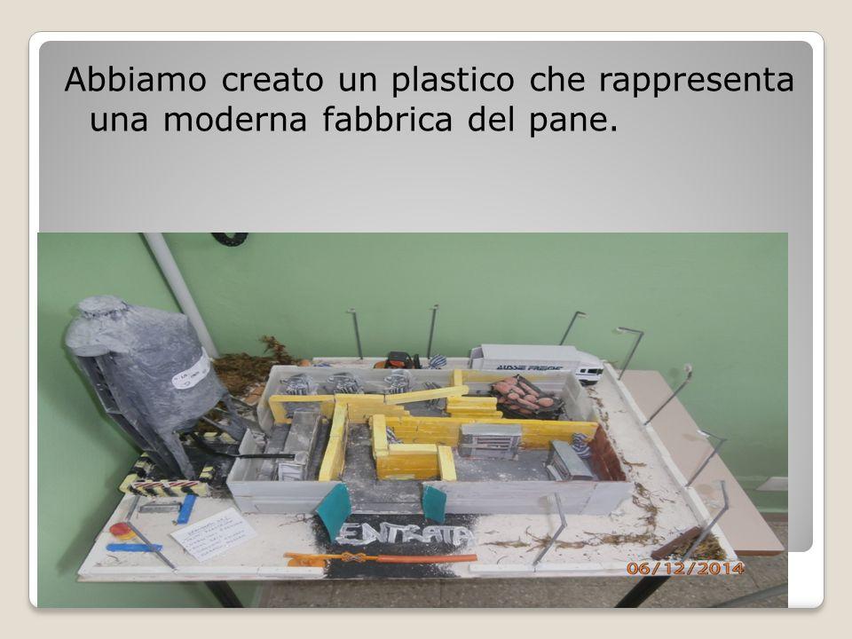 Abbiamo creato un plastico che rappresenta una moderna fabbrica del pane.