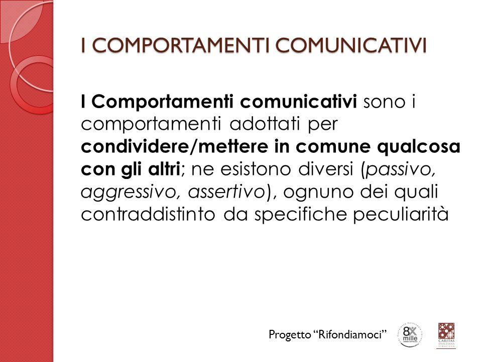 I COMPORTAMENTI COMUNICATIVI