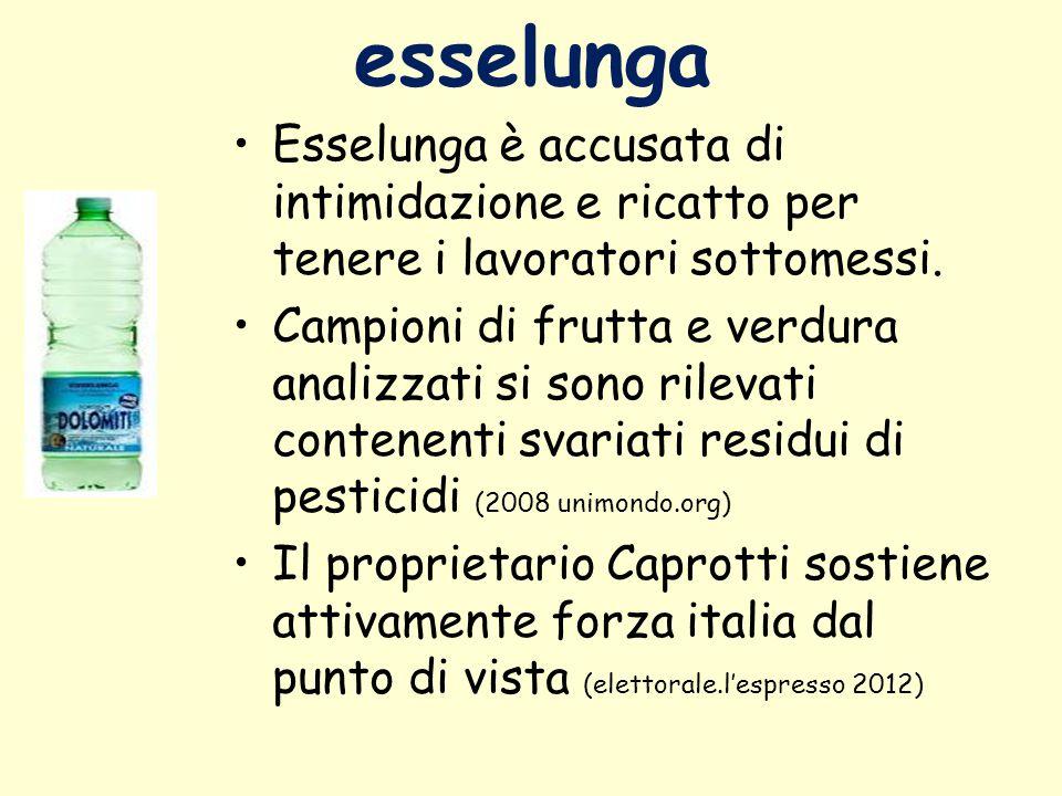 esselunga Esselunga è accusata di intimidazione e ricatto per tenere i lavoratori sottomessi.