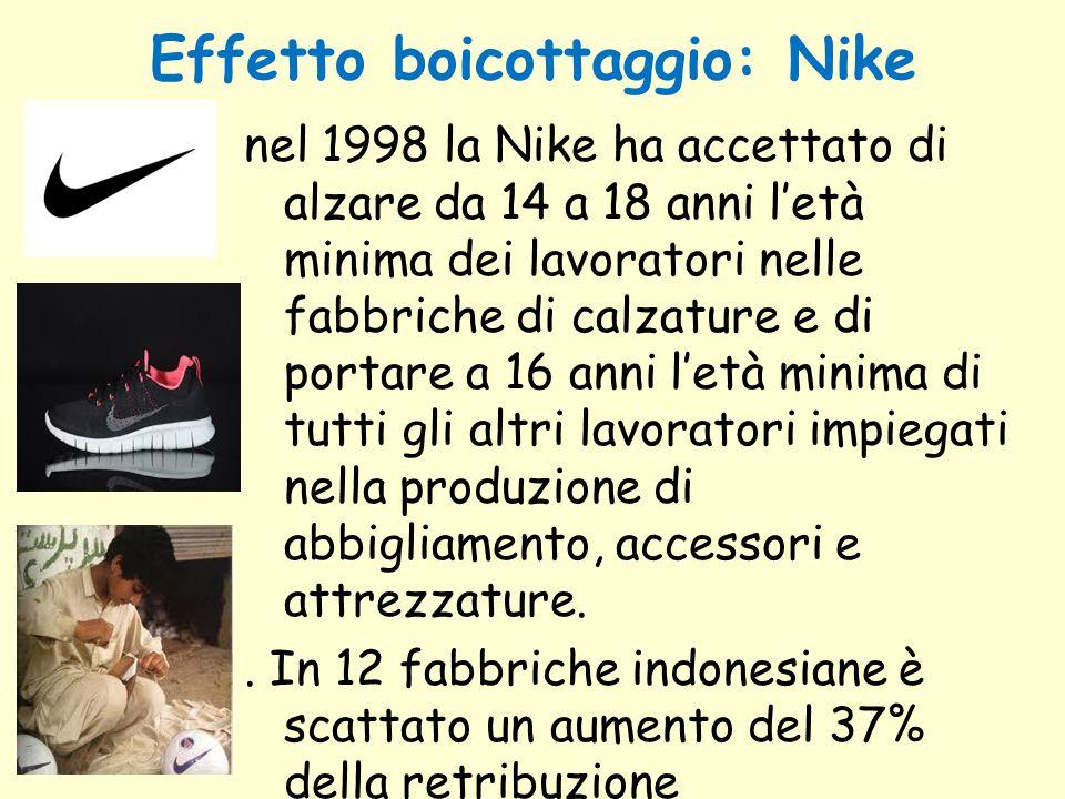 Effetto boicottaggio: Nike