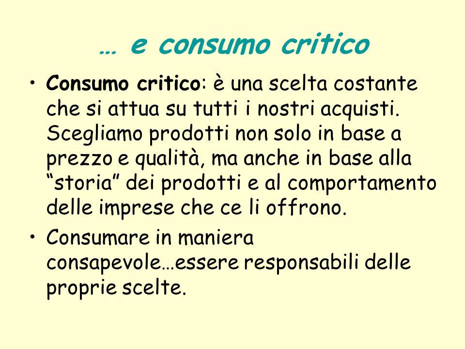 … e consumo critico
