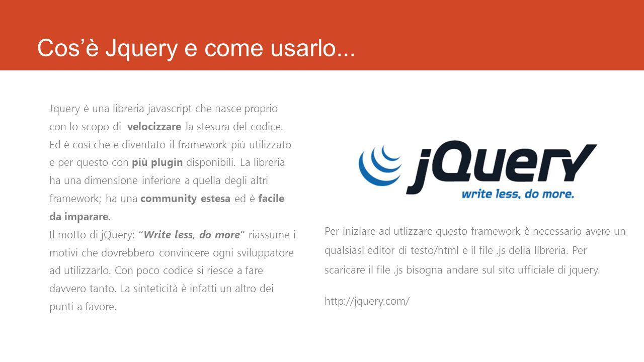 Cos'è Jquery e come usarlo...