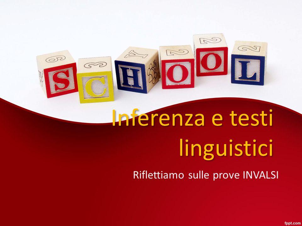 Inferenza e testi linguistici