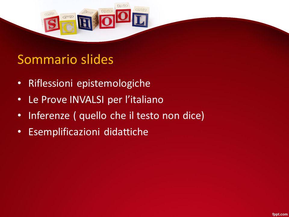 Sommario slides Riflessioni epistemologiche