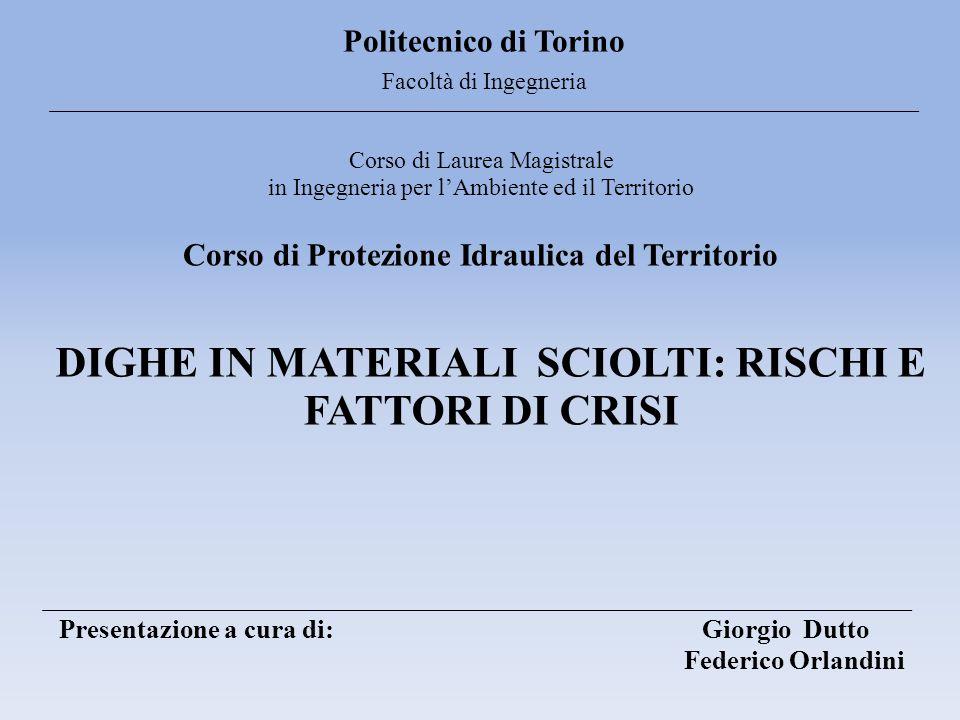 Politecnico di Torino Facoltà di Ingegneria