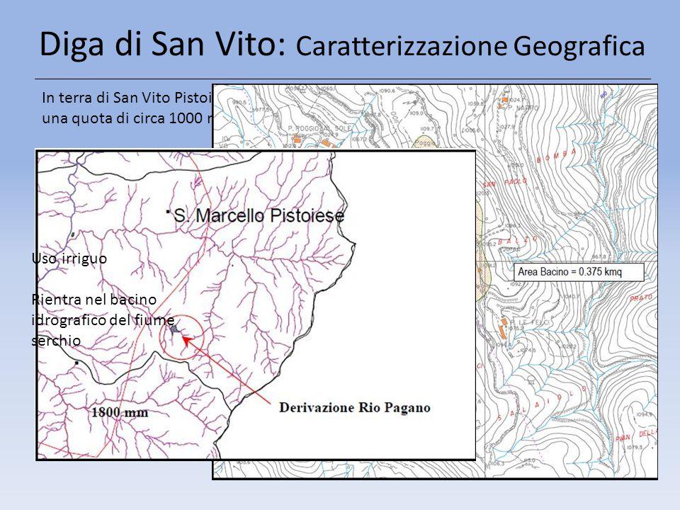 Diga di San Vito: Caratterizzazione Geografica