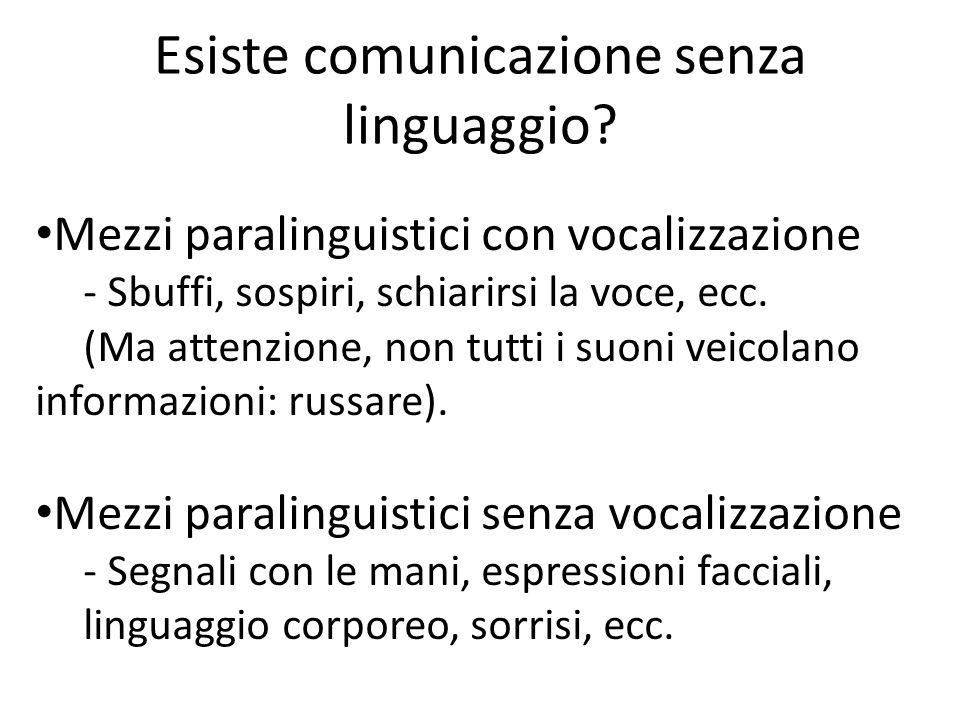 Esiste comunicazione senza linguaggio