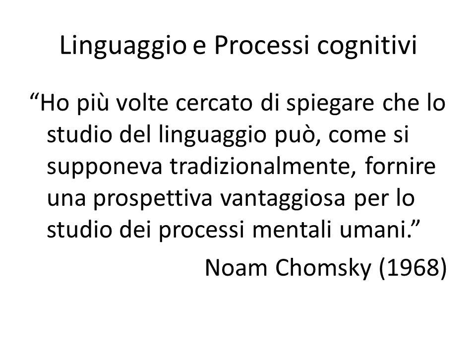 Linguaggio e Processi cognitivi