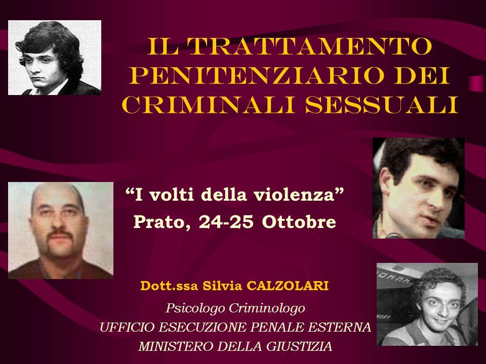 Il trattamento penitenziario dei criminali sessuali