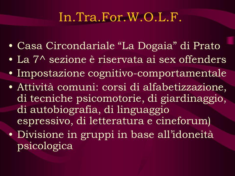In.Tra.For.W.O.L.F. Casa Circondariale La Dogaia di Prato