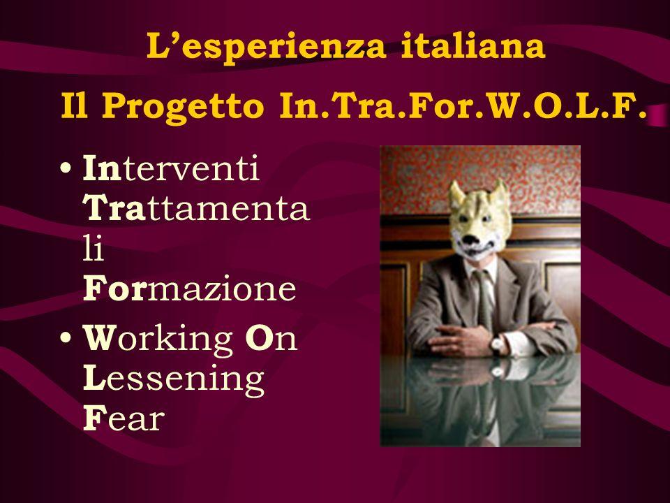 L'esperienza italiana Il Progetto In.Tra.For.W.O.L.F.