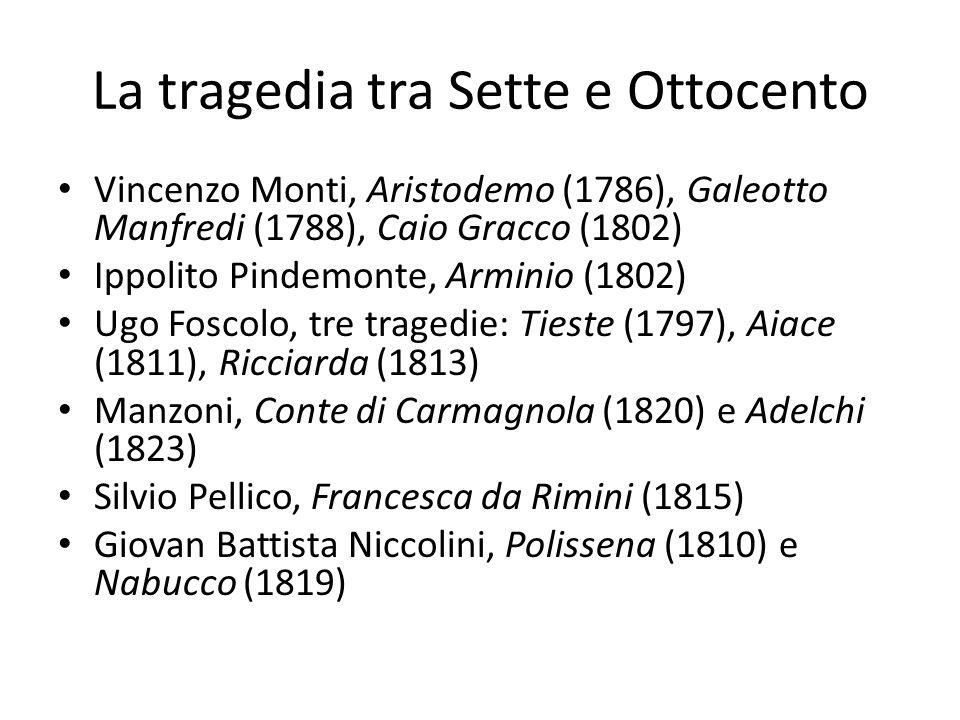 La tragedia tra Sette e Ottocento