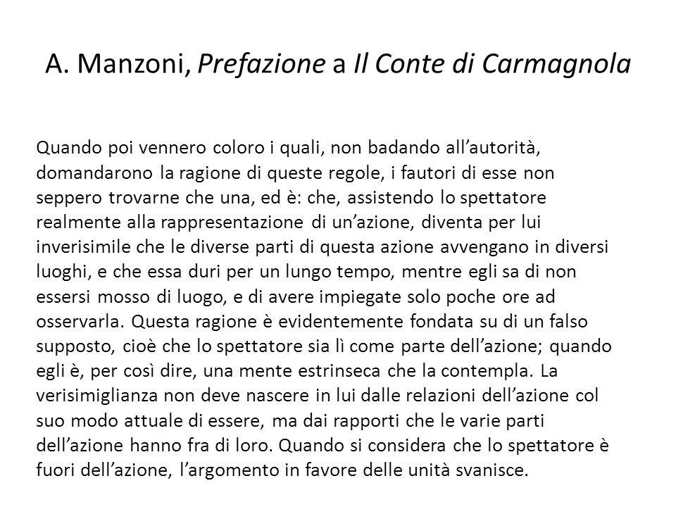 A. Manzoni, Prefazione a Il Conte di Carmagnola