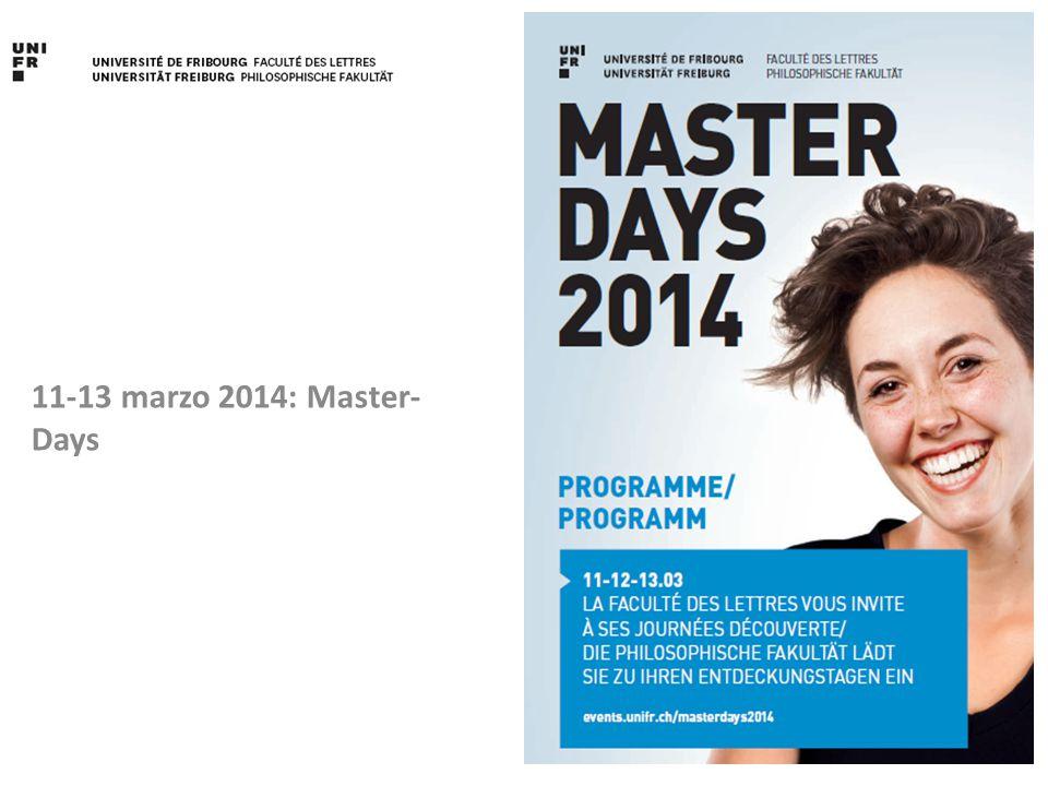 11-13 marzo 2014: Master-Days