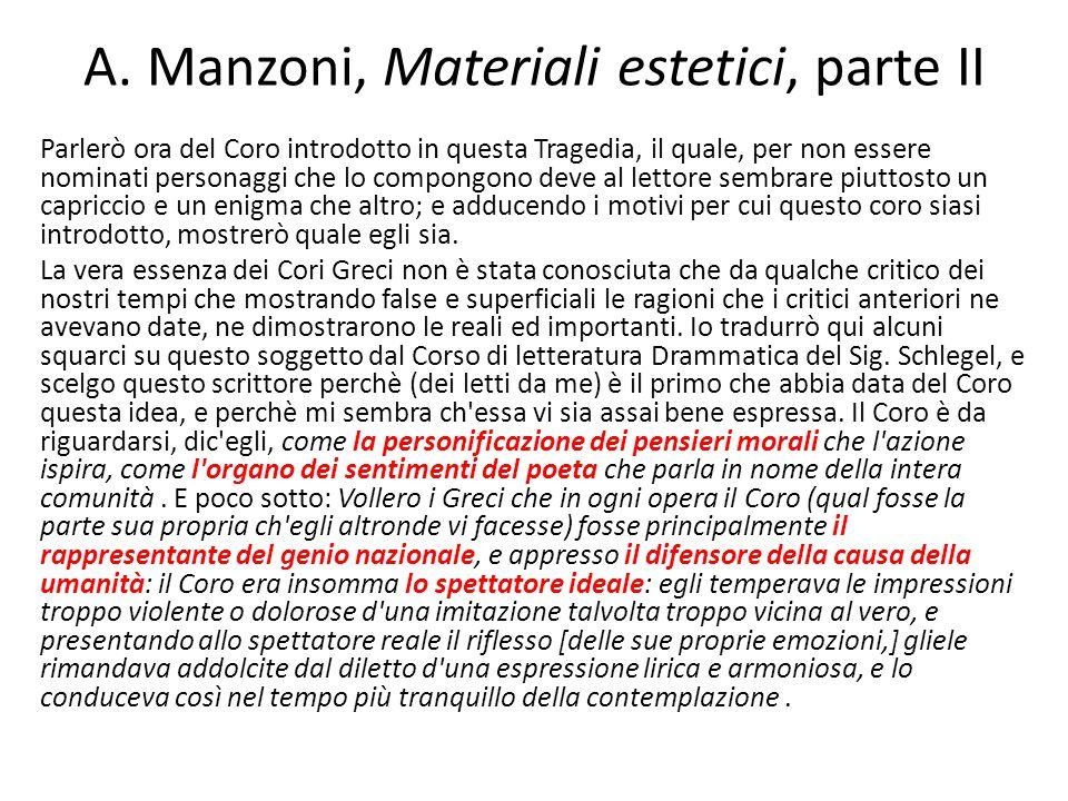 A. Manzoni, Materiali estetici, parte II