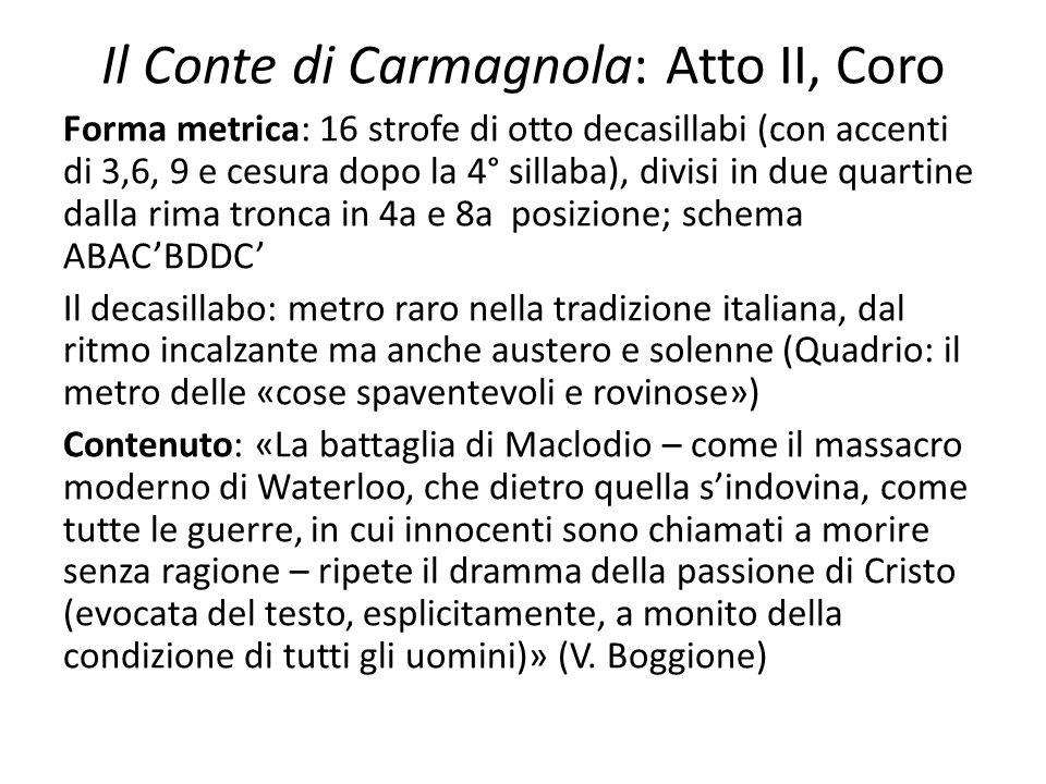 Il Conte di Carmagnola: Atto II, Coro