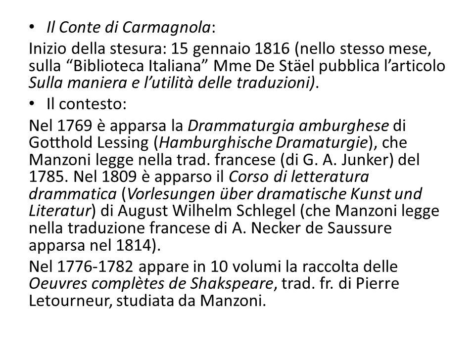 Il Conte di Carmagnola: