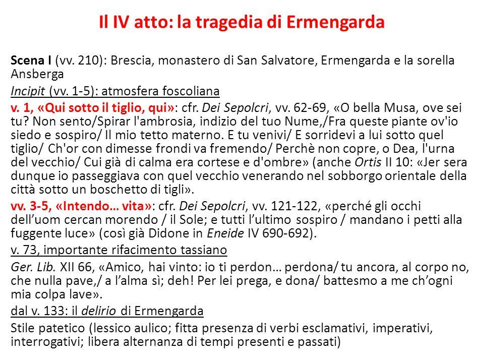 Il IV atto: la tragedia di Ermengarda