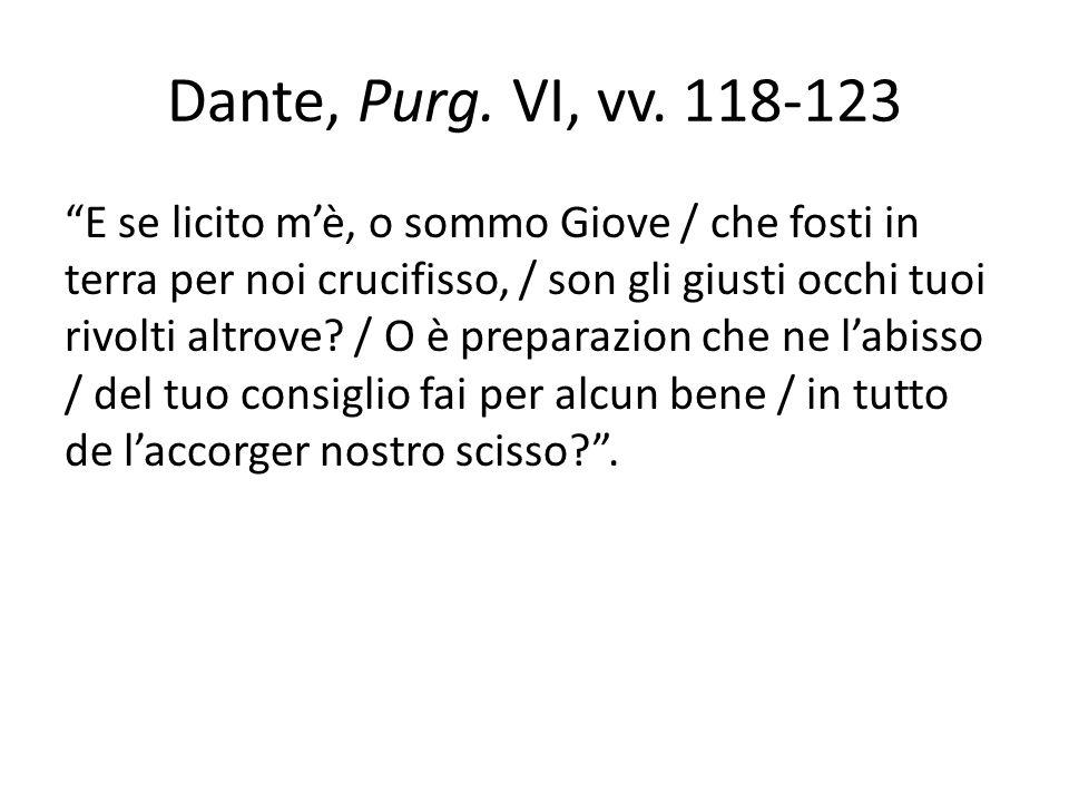 Dante, Purg. VI, vv. 118-123