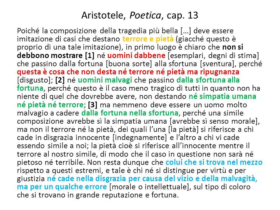 Aristotele, Poetica, cap. 13